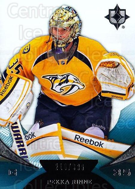 2012-13 UD Ultimate Collection #13 Pekka Rinne<br/>1 In Stock - $5.00 each - <a href=https://centericecollectibles.foxycart.com/cart?name=2012-13%20UD%20Ultimate%20Collection%20%2313%20Pekka%20Rinne...&quantity_max=1&price=$5.00&code=593749 class=foxycart> Buy it now! </a>