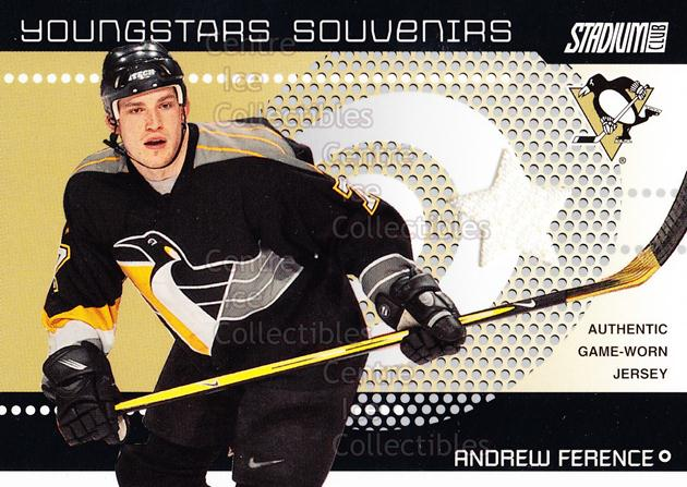 2002-03 Stadium Club Youngstars Souvenirs #22 Andrew Ference<br/>1 In Stock - $5.00 each - <a href=https://centericecollectibles.foxycart.com/cart?name=2002-03%20Stadium%20Club%20Youngstars%20Souvenirs%20%2322%20Andrew%20Ference...&quantity_max=1&price=$5.00&code=593866 class=foxycart> Buy it now! </a>