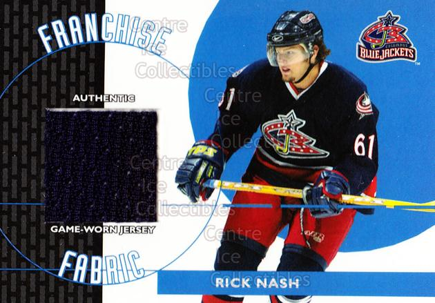 2003-04 Topps Traded Franchise Fabrics #FFRN Rick Nash<br/>1 In Stock - $5.00 each - <a href=https://centericecollectibles.foxycart.com/cart?name=2003-04%20Topps%20Traded%20Franchise%20Fabrics%20%23FFRN%20Rick%20Nash...&quantity_max=1&price=$5.00&code=593897 class=foxycart> Buy it now! </a>