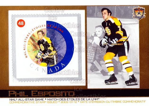 2003 Canada Post Pacific #18 Phil Esposito<br/>7 In Stock - $3.00 each - <a href=https://centericecollectibles.foxycart.com/cart?name=2003%20Canada%20Post%20Pacific%20%2318%20Phil%20Esposito...&quantity_max=7&price=$3.00&code=593956 class=foxycart> Buy it now! </a>