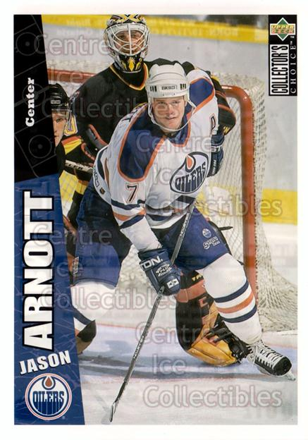 1996-97 Collectors Choice Bi-Way Jumbos #3 Jason Arnott<br/>9 In Stock - $5.00 each - <a href=https://centericecollectibles.foxycart.com/cart?name=1996-97%20Collectors%20Choice%20Bi-Way%20Jumbos%20%233%20Jason%20Arnott...&quantity_max=9&price=$5.00&code=594286 class=foxycart> Buy it now! </a>
