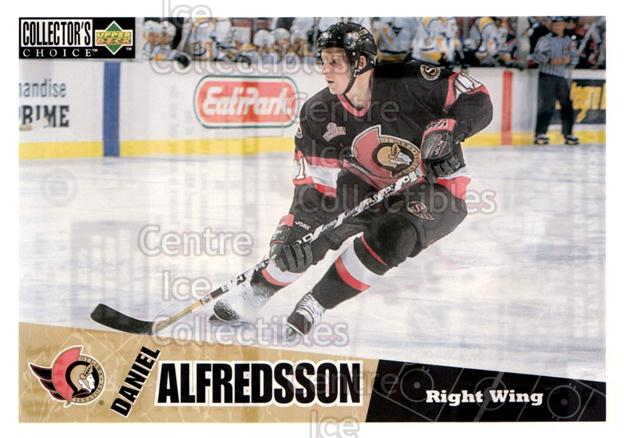 1996-97 Collectors Choice Bi-Way Jumbos #6 Daniel Alfredsson<br/>9 In Stock - $5.00 each - <a href=https://centericecollectibles.foxycart.com/cart?name=1996-97%20Collectors%20Choice%20Bi-Way%20Jumbos%20%236%20Daniel%20Alfredss...&quantity_max=9&price=$5.00&code=594289 class=foxycart> Buy it now! </a>