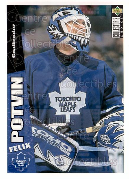 1996-97 Collectors Choice Bi-Way Jumbos #7 Felix Potvin<br/>6 In Stock - $5.00 each - <a href=https://centericecollectibles.foxycart.com/cart?name=1996-97%20Collectors%20Choice%20Bi-Way%20Jumbos%20%237%20Felix%20Potvin...&quantity_max=6&price=$5.00&code=594290 class=foxycart> Buy it now! </a>