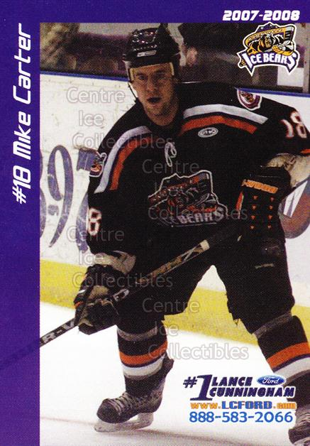 2007-08 Knoxville Ice Bears #2 Mike Carter<br/>2 In Stock - $3.00 each - <a href=https://centericecollectibles.foxycart.com/cart?name=2007-08%20Knoxville%20Ice%20Bears%20%232%20Mike%20Carter...&price=$3.00&code=594497 class=foxycart> Buy it now! </a>