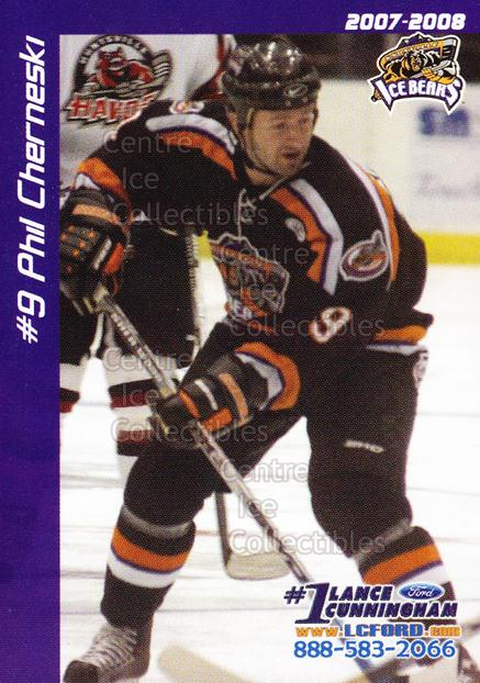 2007-08 Knoxville Ice Bears #3 Phil Cherneski<br/>1 In Stock - $3.00 each - <a href=https://centericecollectibles.foxycart.com/cart?name=2007-08%20Knoxville%20Ice%20Bears%20%233%20Phil%20Cherneski...&price=$3.00&code=594498 class=foxycart> Buy it now! </a>