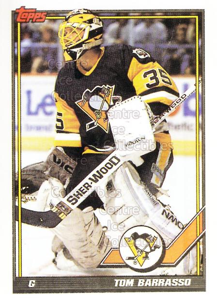 1991-92 Pittsburgh Penguins Foodland Stickers #1 Tom Barrasso<br/>3 In Stock - $3.00 each - <a href=https://centericecollectibles.foxycart.com/cart?name=1991-92%20Pittsburgh%20Penguins%20Foodland%20Stickers%20%231%20Tom%20Barrasso...&price=$3.00&code=594943 class=foxycart> Buy it now! </a>