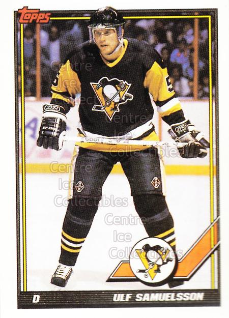 1991-92 Pittsburgh Penguins Foodland Stickers #10 Ulf Samuelsson<br/>1 In Stock - $3.00 each - <a href=https://centericecollectibles.foxycart.com/cart?name=1991-92%20Pittsburgh%20Penguins%20Foodland%20Stickers%20%2310%20Ulf%20Samuelsson...&quantity_max=1&price=$3.00&code=594951 class=foxycart> Buy it now! </a>