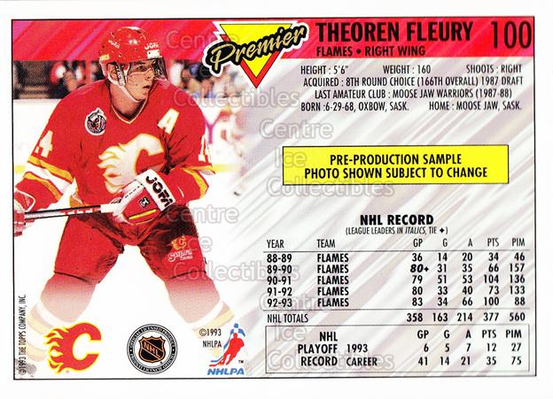 <a href=index.aspx?SetName=1993-94%20Topps%20Premier%20Promos%20Sample>1993-94 Topps Premier Promos Sample</a> #100 <a href=index.aspx?PlayerName=Theo%20Fleury> Theo Fleury</a><br/>8 in stock - $3.00 each - <a href=https://centericecollectibles.foxycart.com/cart?name=1993-94%20Topps%20Premier%20Promos%20Sample%20%23100%20Theo%20Fleury...&price=$3.00&code=594981 class=foxycart> Buy it now! </a>