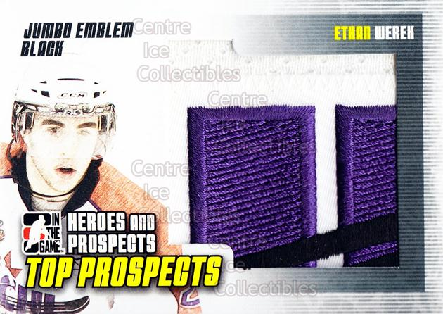 2009-10 ITG Heroes and Prospects Top Prospects Emblem Black #10 Ethan Werek<br/>1 In Stock - $15.00 each - <a href=https://centericecollectibles.foxycart.com/cart?name=2009-10%20ITG%20Heroes%20and%20Prospects%20Top%20Prospects%20Emblem%20Black%20%2310%20Ethan%20Werek...&price=$15.00&code=594997 class=foxycart> Buy it now! </a>