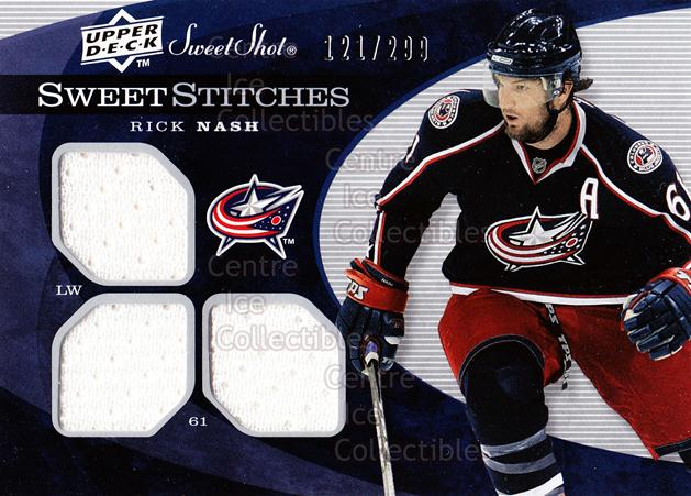 2007-08 Sweet Shot Sweet Stitches #SSTRN Rick Nash<br/>1 In Stock - $5.00 each - <a href=https://centericecollectibles.foxycart.com/cart?name=2007-08%20Sweet%20Shot%20Sweet%20Stitches%20%23SSTRN%20Rick%20Nash...&quantity_max=1&price=$5.00&code=595459 class=foxycart> Buy it now! </a>