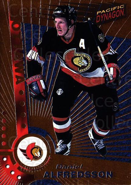 1997-98 Dynagon #83 Daniel Alfredsson<br/>7 In Stock - $1.00 each - <a href=https://centericecollectibles.foxycart.com/cart?name=1997-98%20Dynagon%20%2383%20Daniel%20Alfredss...&quantity_max=7&price=$1.00&code=59601 class=foxycart> Buy it now! </a>