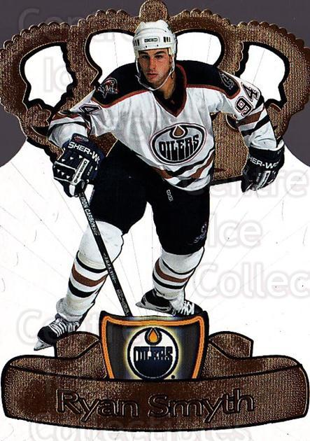 1997-98 Pacific Gold Crown Die-Cuts #12 Ryan Smyth<br/>5 In Stock - $5.00 each - <a href=https://centericecollectibles.foxycart.com/cart?name=1997-98%20Pacific%20Gold%20Crown%20Die-Cuts%20%2312%20Ryan%20Smyth...&quantity_max=5&price=$5.00&code=59643 class=foxycart> Buy it now! </a>