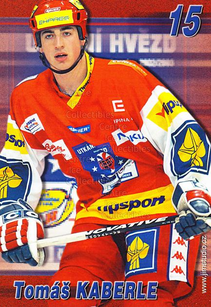 2004-05 Czech Extraliga AS Postcards #7 Tomas Kaberle<br/>2 In Stock - $3.00 each - <a href=https://centericecollectibles.foxycart.com/cart?name=2004-05%20Czech%20Extraliga%20AS%20Postcards%20%237%20Tomas%20Kaberle...&quantity_max=2&price=$3.00&code=598794 class=foxycart> Buy it now! </a>