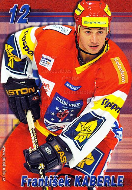 2004-05 Czech Extraliga AS Postcards #6 Frantisek Kaberle<br/>2 In Stock - $3.00 each - <a href=https://centericecollectibles.foxycart.com/cart?name=2004-05%20Czech%20Extraliga%20AS%20Postcards%20%236%20Frantisek%20Kaber...&quantity_max=2&price=$3.00&code=598797 class=foxycart> Buy it now! </a>