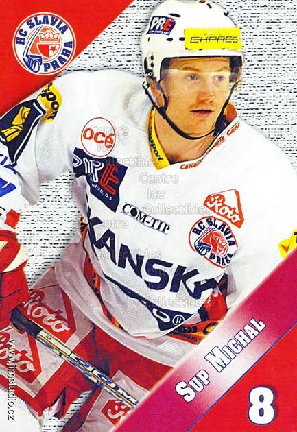 2004-05 Czech HC Slavia Praha Postcards #13 Michal Sup<br/>3 In Stock - $3.00 each - <a href=https://centericecollectibles.foxycart.com/cart?name=2004-05%20Czech%20HC%20Slavia%20Praha%20Postcards%20%2313%20Michal%20Sup...&price=$3.00&code=598826 class=foxycart> Buy it now! </a>