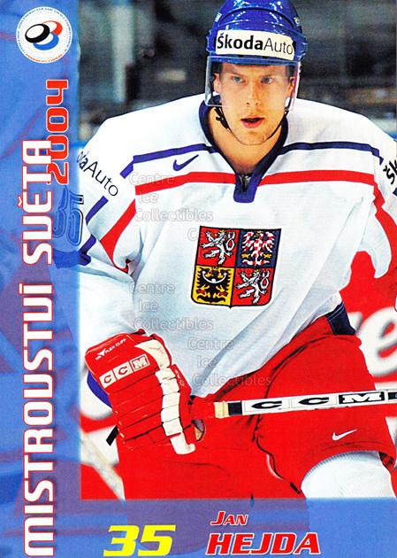 2004-05 Czech World Championship Postcards #8 Jan Hejda<br/>1 In Stock - $3.00 each - <a href=https://centericecollectibles.foxycart.com/cart?name=2004-05%20Czech%20World%20Championship%20Postcards%20%238%20Jan%20Hejda...&quantity_max=1&price=$3.00&code=598831 class=foxycart> Buy it now! </a>