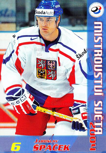2004-05 Czech World Championship Postcards #21 Jaroslav Spacek<br/>2 In Stock - $3.00 each - <a href=https://centericecollectibles.foxycart.com/cart?name=2004-05%20Czech%20World%20Championship%20Postcards%20%2321%20Jaroslav%20Spacek...&quantity_max=2&price=$3.00&code=598834 class=foxycart> Buy it now! </a>