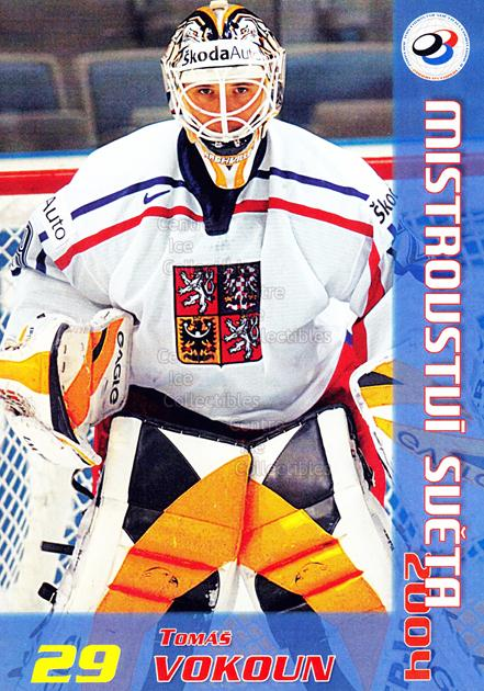 2004-05 Czech World Championship Postcards #24 Tomas Vokoun<br/>1 In Stock - $3.00 each - <a href=https://centericecollectibles.foxycart.com/cart?name=2004-05%20Czech%20World%20Championship%20Postcards%20%2324%20Tomas%20Vokoun...&quantity_max=1&price=$3.00&code=598837 class=foxycart> Buy it now! </a>