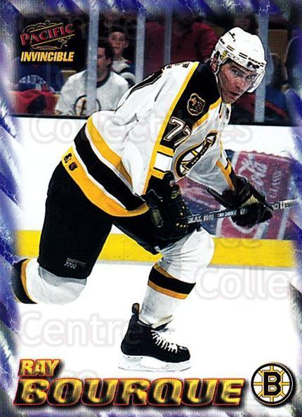 1997-98 Pacific Invincible NHL Regime #10 Ray Bourque<br/>1 In Stock - $2.00 each - <a href=https://centericecollectibles.foxycart.com/cart?name=1997-98%20Pacific%20Invincible%20NHL%20Regime%20%2310%20Ray%20Bourque...&quantity_max=1&price=$2.00&code=59919 class=foxycart> Buy it now! </a>