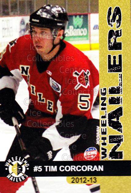 2012-13 Wheeling Nailers #2 Tim Corcoran<br/>4 In Stock - $3.00 each - <a href=https://centericecollectibles.foxycart.com/cart?name=2012-13%20Wheeling%20Nailers%20%232%20Tim%20Corcoran...&quantity_max=4&price=$3.00&code=599335 class=foxycart> Buy it now! </a>