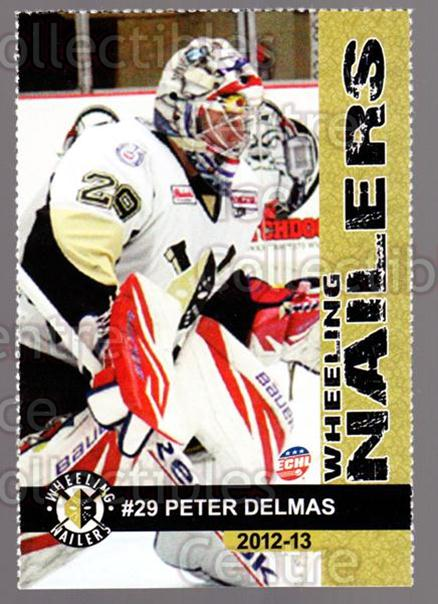 2012-13 Wheeling Nailers #5 Peter Delmas<br/>3 In Stock - $3.00 each - <a href=https://centericecollectibles.foxycart.com/cart?name=2012-13%20Wheeling%20Nailers%20%235%20Peter%20Delmas...&quantity_max=3&price=$3.00&code=599338 class=foxycart> Buy it now! </a>