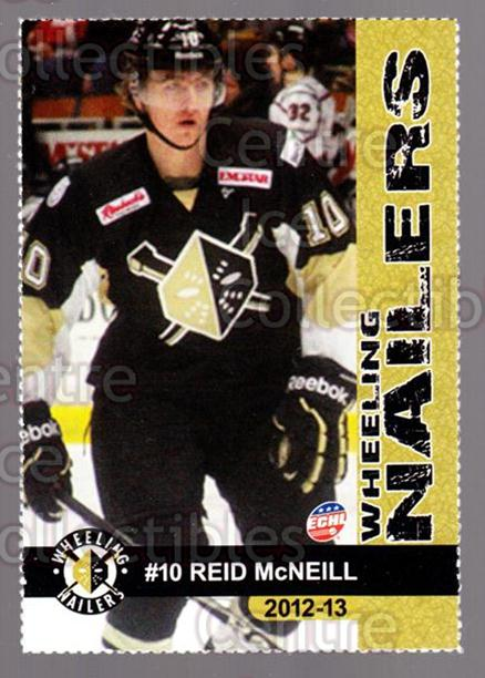 2012-13 Wheeling Nailers #14 Reid McNeill<br/>3 In Stock - $3.00 each - <a href=https://centericecollectibles.foxycart.com/cart?name=2012-13%20Wheeling%20Nailers%20%2314%20Reid%20McNeill...&price=$3.00&code=599347 class=foxycart> Buy it now! </a>