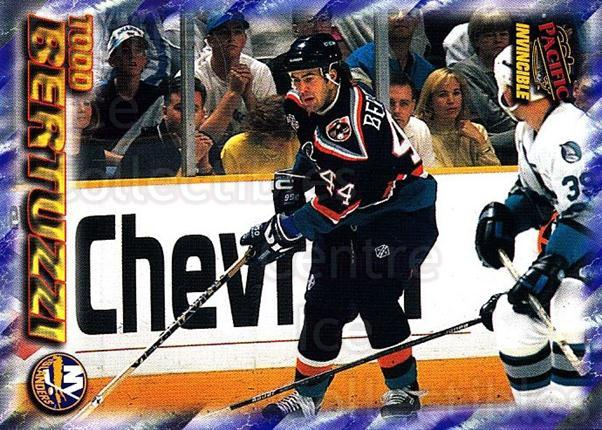 1997-98 Pacific Invincible NHL Regime #115 Todd Bertuzzi<br/>5 In Stock - $1.00 each - <a href=https://centericecollectibles.foxycart.com/cart?name=1997-98%20Pacific%20Invincible%20NHL%20Regime%20%23115%20Todd%20Bertuzzi...&quantity_max=5&price=$1.00&code=59934 class=foxycart> Buy it now! </a>