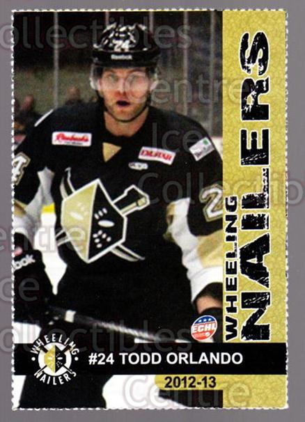 2012-13 Wheeling Nailers #17 Todd Orlando<br/>1 In Stock - $3.00 each - <a href=https://centericecollectibles.foxycart.com/cart?name=2012-13%20Wheeling%20Nailers%20%2317%20Todd%20Orlando...&quantity_max=1&price=$3.00&code=599350 class=foxycart> Buy it now! </a>