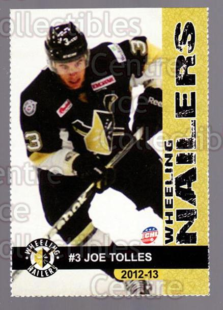 2012-13 Wheeling Nailers #20 Joe Tolles<br/>5 In Stock - $3.00 each - <a href=https://centericecollectibles.foxycart.com/cart?name=2012-13%20Wheeling%20Nailers%20%2320%20Joe%20Tolles...&quantity_max=5&price=$3.00&code=599353 class=foxycart> Buy it now! </a>