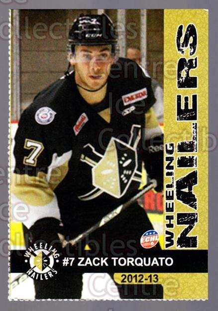 2012-13 Wheeling Nailers #21 Zack Torquato<br/>2 In Stock - $3.00 each - <a href=https://centericecollectibles.foxycart.com/cart?name=2012-13%20Wheeling%20Nailers%20%2321%20Zack%20Torquato...&quantity_max=2&price=$3.00&code=599354 class=foxycart> Buy it now! </a>