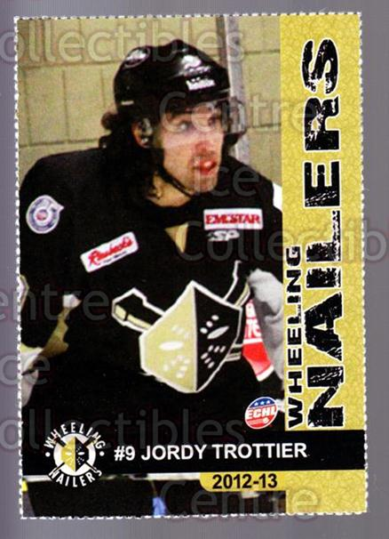 2012-13 Wheeling Nailers #22 Jordy Trottier<br/>5 In Stock - $3.00 each - <a href=https://centericecollectibles.foxycart.com/cart?name=2012-13%20Wheeling%20Nailers%20%2322%20Jordy%20Trottier...&quantity_max=5&price=$3.00&code=599355 class=foxycart> Buy it now! </a>