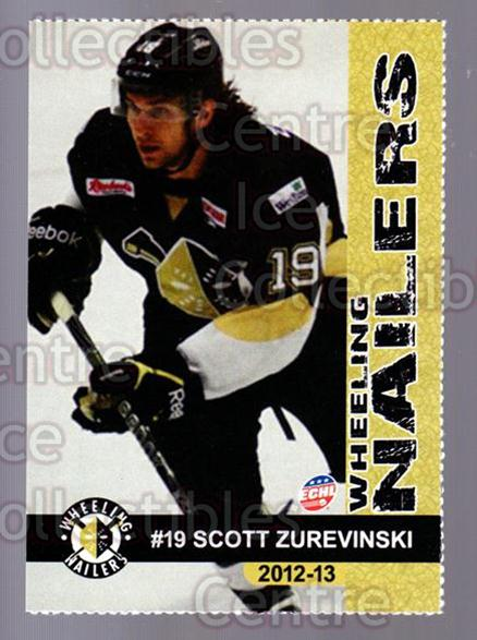 2012-13 Wheeling Nailers #25 Scott Zurevinski<br/>5 In Stock - $3.00 each - <a href=https://centericecollectibles.foxycart.com/cart?name=2012-13%20Wheeling%20Nailers%20%2325%20Scott%20Zurevinsk...&quantity_max=5&price=$3.00&code=599358 class=foxycart> Buy it now! </a>