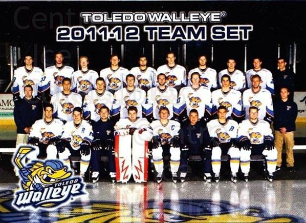 2011-12 Toledo Walleye #26 Checklist, Team Photo<br/>3 In Stock - $3.00 each - <a href=https://centericecollectibles.foxycart.com/cart?name=2011-12%20Toledo%20Walleye%20%2326%20Checklist,%20Team...&quantity_max=3&price=$3.00&code=599411 class=foxycart> Buy it now! </a>