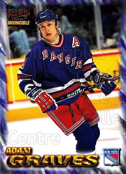 1997-98 Invincible NHL Regime #127 Adam Graves<br/>5 In Stock - $1.00 each - <a href=https://centericecollectibles.foxycart.com/cart?name=1997-98%20Invincible%20NHL%20Regime%20%23127%20Adam%20Graves...&quantity_max=5&price=$1.00&code=59947 class=foxycart> Buy it now! </a>