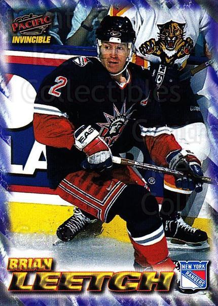 1997-98 Pacific Invincible NHL Regime #129 Brian Leetch<br/>5 In Stock - $1.00 each - <a href=https://centericecollectibles.foxycart.com/cart?name=1997-98%20Pacific%20Invincible%20NHL%20Regime%20%23129%20Brian%20Leetch...&quantity_max=5&price=$1.00&code=59948 class=foxycart> Buy it now! </a>
