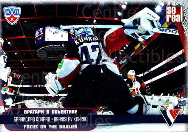 2012-13 Russian KHL AS Series Focus on the Goalies #10 Branislav Konrad<br/>7 In Stock - $2.00 each - <a href=https://centericecollectibles.foxycart.com/cart?name=2012-13%20Russian%20KHL%20AS%20Series%20Focus%20on%20the%20Goalies%20%2310%20Branislav%20Konra...&quantity_max=7&price=$2.00&code=599571 class=foxycart> Buy it now! </a>