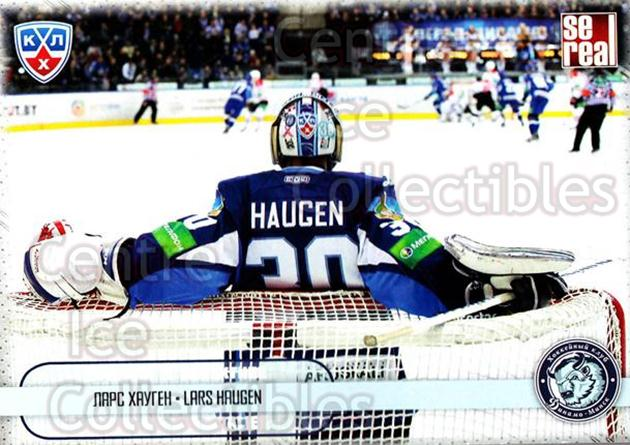 2012-13 Russian KHL AS Series Focus on the Goalies #19 Lars Haugen<br/>5 In Stock - $2.00 each - <a href=https://centericecollectibles.foxycart.com/cart?name=2012-13%20Russian%20KHL%20AS%20Series%20Focus%20on%20the%20Goalies%20%2319%20Lars%20Haugen...&quantity_max=5&price=$2.00&code=599580 class=foxycart> Buy it now! </a>
