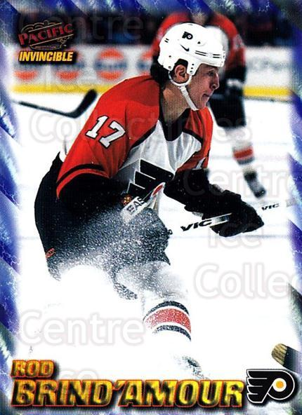 1997-98 Invincible NHL Regime #139 Rod Brind'Amour<br/>3 In Stock - $1.00 each - <a href=https://centericecollectibles.foxycart.com/cart?name=1997-98%20Invincible%20NHL%20Regime%20%23139%20Rod%20Brind'Amour...&quantity_max=3&price=$1.00&code=59958 class=foxycart> Buy it now! </a>