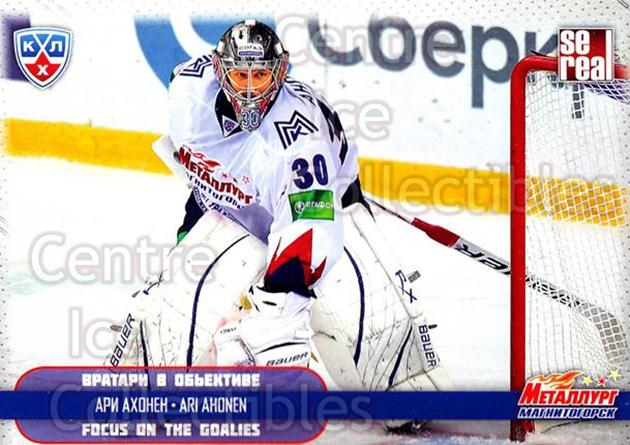 2012-13 Russian KHL AS Series Focus on the Goalies #33 Ari Ahonen<br/>6 In Stock - $2.00 each - <a href=https://centericecollectibles.foxycart.com/cart?name=2012-13%20Russian%20KHL%20AS%20Series%20Focus%20on%20the%20Goalies%20%2333%20Ari%20Ahonen...&quantity_max=6&price=$2.00&code=599594 class=foxycart> Buy it now! </a>