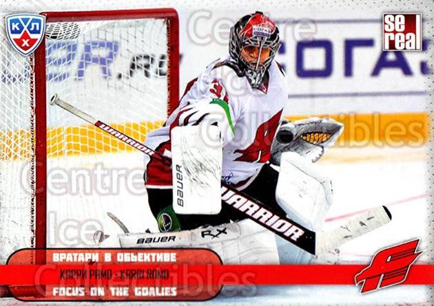 2012-13 Russian KHL AS Series Focus on the Goalies #41 Karri Ramo<br/>7 In Stock - $2.00 each - <a href=https://centericecollectibles.foxycart.com/cart?name=2012-13%20Russian%20KHL%20AS%20Series%20Focus%20on%20the%20Goalies%20%2341%20Karri%20Ramo...&quantity_max=7&price=$2.00&code=599602 class=foxycart> Buy it now! </a>