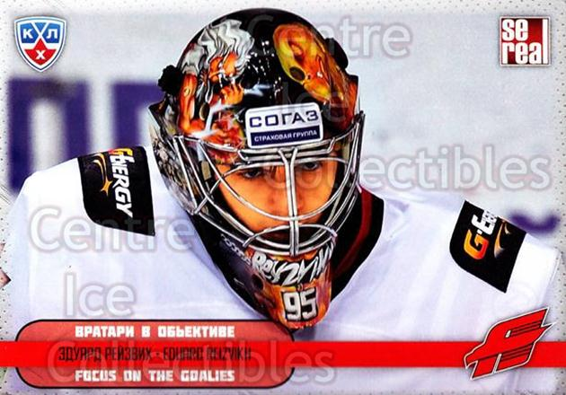 2012-13 Russian KHL AS Series Focus on the Goalies #42 Eduard Reizvikh<br/>8 In Stock - $2.00 each - <a href=https://centericecollectibles.foxycart.com/cart?name=2012-13%20Russian%20KHL%20AS%20Series%20Focus%20on%20the%20Goalies%20%2342%20Eduard%20Reizvikh...&quantity_max=8&price=$2.00&code=599603 class=foxycart> Buy it now! </a>