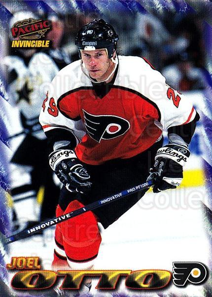 1997-98 Pacific Invincible NHL Regime #146 Joel Otto<br/>5 In Stock - $1.00 each - <a href=https://centericecollectibles.foxycart.com/cart?name=1997-98%20Pacific%20Invincible%20NHL%20Regime%20%23146%20Joel%20Otto...&quantity_max=5&price=$1.00&code=59965 class=foxycart> Buy it now! </a>