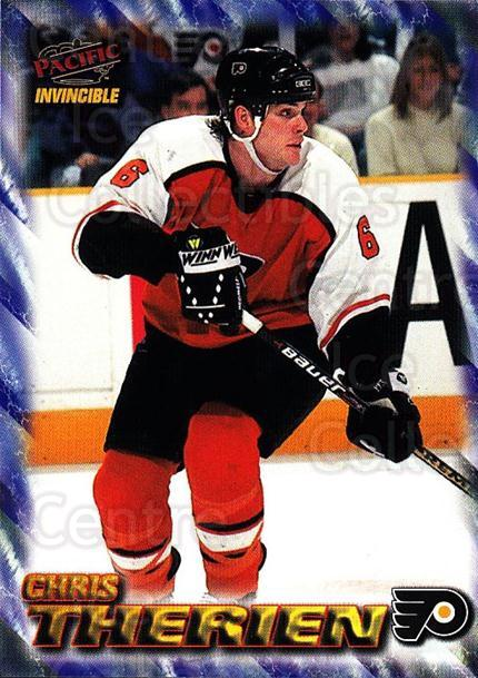 1997-98 Pacific Invincible NHL Regime #148 Chris Therien<br/>5 In Stock - $1.00 each - <a href=https://centericecollectibles.foxycart.com/cart?name=1997-98%20Pacific%20Invincible%20NHL%20Regime%20%23148%20Chris%20Therien...&quantity_max=5&price=$1.00&code=59967 class=foxycart> Buy it now! </a>