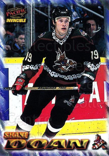 1997-98 Pacific Invincible NHL Regime #149 Shane Doan<br/>5 In Stock - $1.00 each - <a href=https://centericecollectibles.foxycart.com/cart?name=1997-98%20Pacific%20Invincible%20NHL%20Regime%20%23149%20Shane%20Doan...&quantity_max=5&price=$1.00&code=59968 class=foxycart> Buy it now! </a>