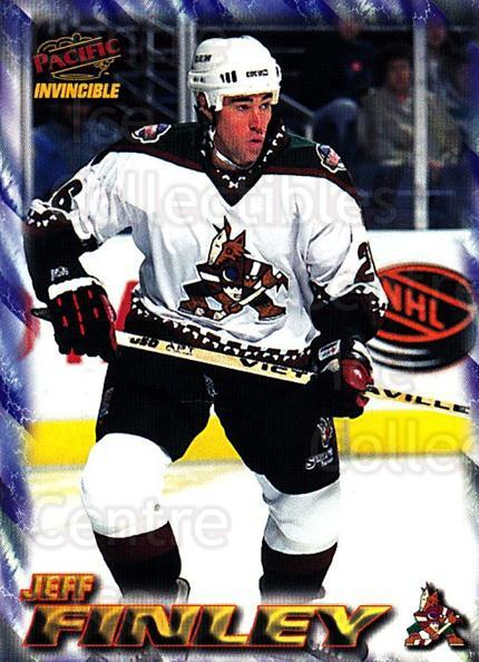 1997-98 Pacific Invincible NHL Regime #151 Jeff Finley<br/>1 In Stock - $1.00 each - <a href=https://centericecollectibles.foxycart.com/cart?name=1997-98%20Pacific%20Invincible%20NHL%20Regime%20%23151%20Jeff%20Finley...&quantity_max=1&price=$1.00&code=59970 class=foxycart> Buy it now! </a>