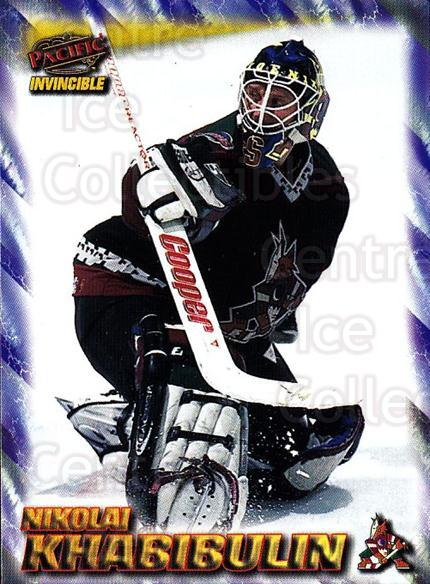 1997-98 Invincible NHL Regime #153 Nikolai Khabibulin<br/>5 In Stock - $1.00 each - <a href=https://centericecollectibles.foxycart.com/cart?name=1997-98%20Invincible%20NHL%20Regime%20%23153%20Nikolai%20Khabibu...&quantity_max=5&price=$1.00&code=59972 class=foxycart> Buy it now! </a>