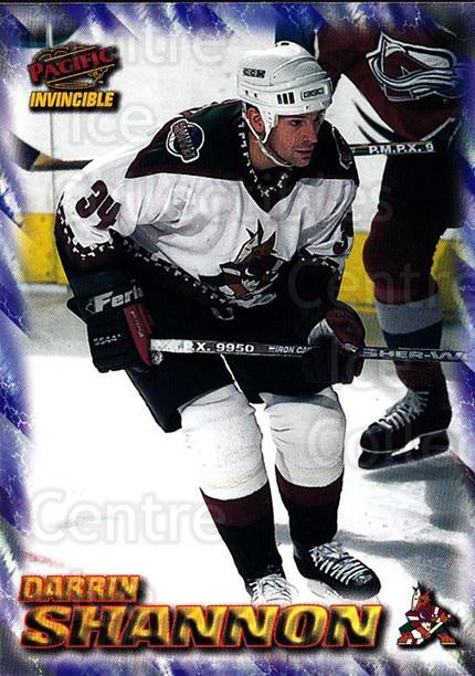 1997-98 Pacific Invincible NHL Regime #154 Darrin Shannon<br/>3 In Stock - $1.00 each - <a href=https://centericecollectibles.foxycart.com/cart?name=1997-98%20Pacific%20Invincible%20NHL%20Regime%20%23154%20Darrin%20Shannon...&quantity_max=3&price=$1.00&code=59973 class=foxycart> Buy it now! </a>