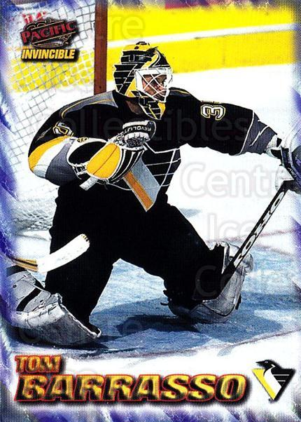 1997-98 Pacific Invincible NHL Regime #157 Tom Barrasso<br/>2 In Stock - $2.00 each - <a href=https://centericecollectibles.foxycart.com/cart?name=1997-98%20Pacific%20Invincible%20NHL%20Regime%20%23157%20Tom%20Barrasso...&quantity_max=2&price=$2.00&code=59976 class=foxycart> Buy it now! </a>