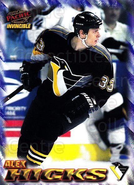 1997-98 Pacific Invincible NHL Regime #159 Alex Hicks<br/>1 In Stock - $1.00 each - <a href=https://centericecollectibles.foxycart.com/cart?name=1997-98%20Pacific%20Invincible%20NHL%20Regime%20%23159%20Alex%20Hicks...&quantity_max=1&price=$1.00&code=59978 class=foxycart> Buy it now! </a>