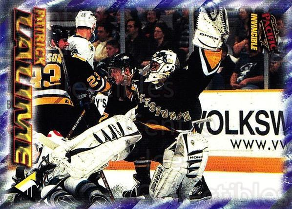 1997-98 Pacific Invincible NHL Regime #161 Patrick Lalime<br/>3 In Stock - $1.00 each - <a href=https://centericecollectibles.foxycart.com/cart?name=1997-98%20Pacific%20Invincible%20NHL%20Regime%20%23161%20Patrick%20Lalime...&quantity_max=3&price=$1.00&code=59980 class=foxycart> Buy it now! </a>